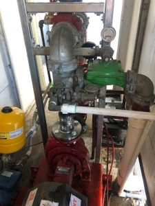 new flex, new supports and clean pump room 2